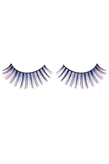 Baci Lashes, сине-фиолетовый Длинные накладные ресницы