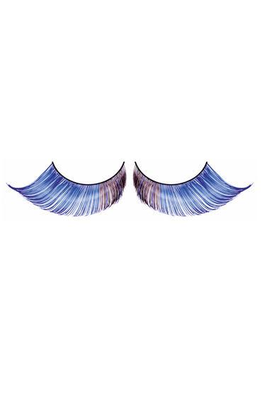 Baci Lashes, светло-синий Накладные ресницы с перьями