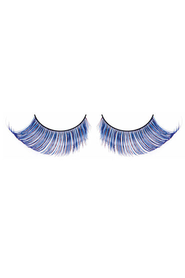 Baci Lashes, сине-фиолетовый Накладные ресницы с перьями