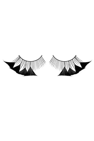 Baci Lashes, черный Накладные ресницы с перьями