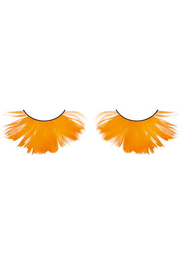 Baci Lashes, оранжевый Накладные ресницы с перьями