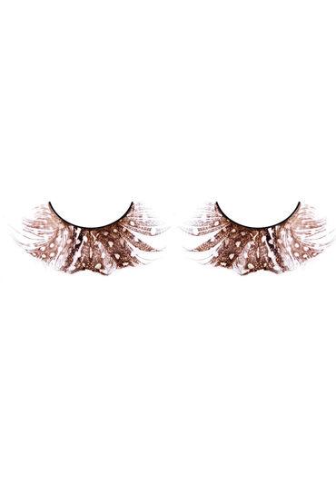 Baci Lashes, коричневый Накладные ресницы с перьями