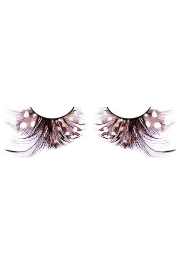 Baci Lashes, коричнево-черный Накладные ресницы с перьями