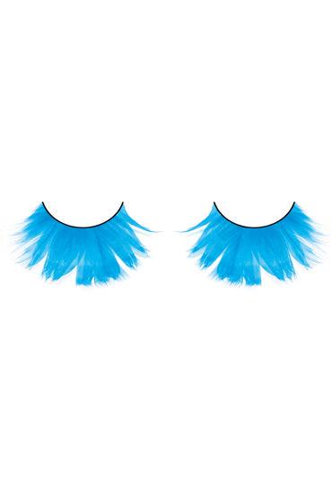 Baci Lashes, ярко-голубой Накладные ресницы с перьями
