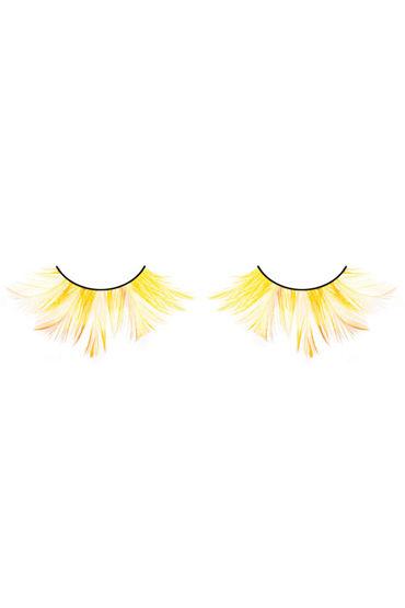 Baci Lashes, желтый Накладные ресницы с перьями