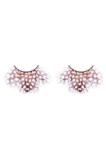 Baci Lashes, коричнево-фиолетовый Накладные ресницы с перьями
