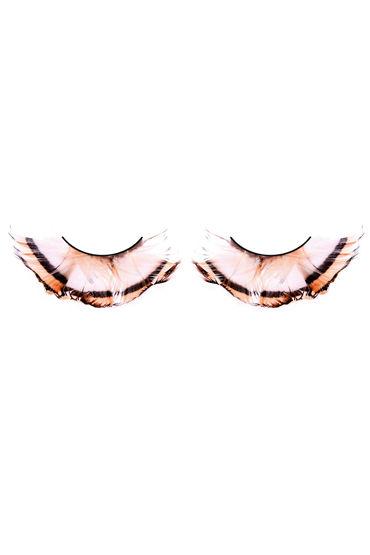 Baci Lashes, бежево-коричневый Накладные ресницы с перьями
