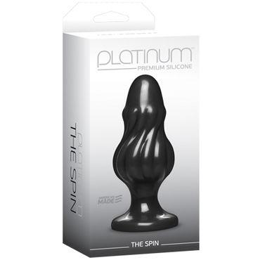 Doc Johnson Platinum Premium Silicone The Spin Анальная пробка