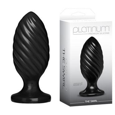 Doc Johnson Platinum Premium Silicone The Swirl, Анальная пробка