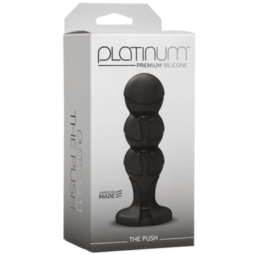 Doc Johnson Platinum Premium Silicone The Push Анальная пробка