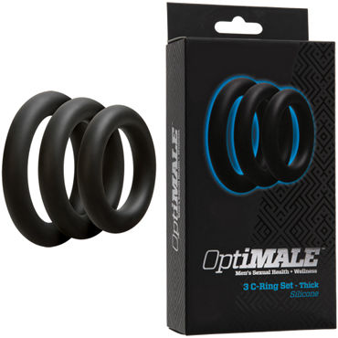 Doc Johnson Optimale 3 C-Ring Set Thick, ����� ������� ����������� �����