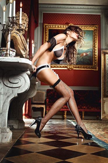 Baci Dreams Careless French Maid, Высокие чулки в крупную сетку - Размер XS-M