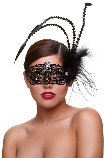 Baci Dreams Mask Fantasia Маска со стразами и пухом
