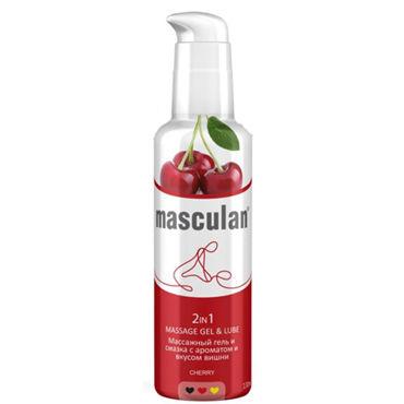 Masculan 2in1 Massage Gel & Lube Cherry, 130мл Массажный гель и смазка 2 в 1 с ароматом и вкусом вишни