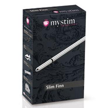 Mystim Slim Finn, 15см Массажер уретры с электростимуляцией