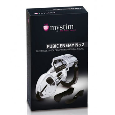 Mystim Pubic Enemy No 2 Пояс верности с электростимуляцией
