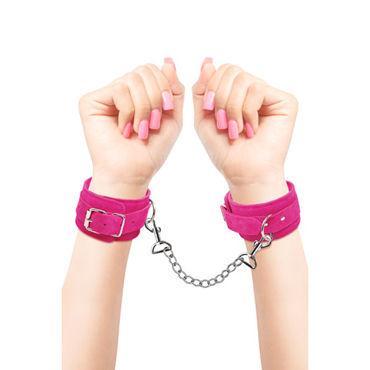 Pipedream Fetish Fantasy Series Pink Wrist Cuffs Замшевые наручники