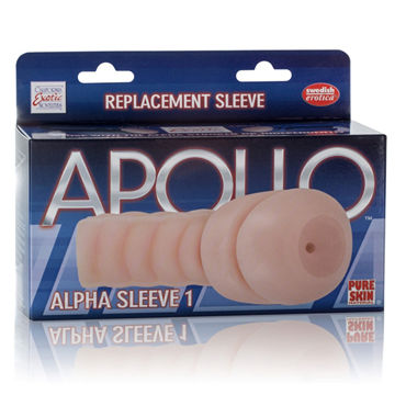 California Exotic Apollo Replacement Sleeve Alpha Sleeve 1  Gender Neutral Мастурбатор-анус, вставка