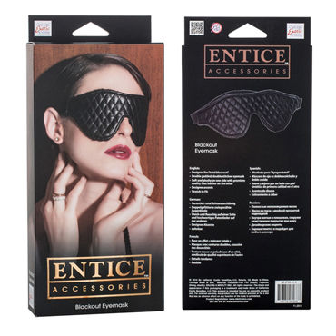 California Exotic Entice Blackout Eyemask Плотная маска на глаза