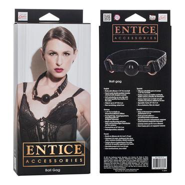 California Exotic Entice Ball Gag Классический кляп с плюшевой подкладкой