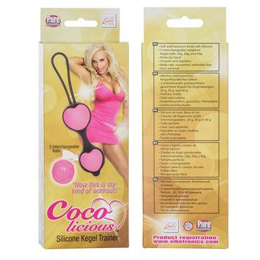 California Exotic Coco licious Silicone Kegel Trainer, черный Вагинальные шарики в силиконовой оболочке