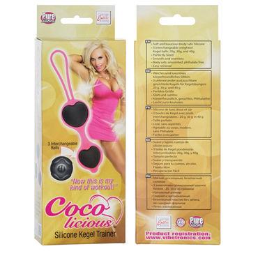 California Exotic Coco licious Silicone Kegel Trainer, розовый Вагинальные шарики в силиконовой оболочке