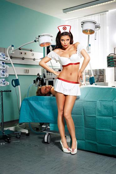 Baci Экстравагантная медсестра Блузка, юбка-фартук и чепец