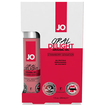 System JO Oral Delight Strawberry Sensation, 30мл Клубничный лубрикант для оральных ласк