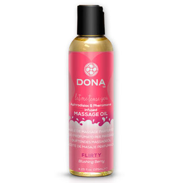 "Dona Scented Massage Oil Flirty Aroma Blushing Berry, 125 мл Массажное масло с ароматом ""Флирт"""