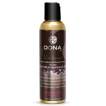 Dona Kissable Massage Oil Chocolate Mousse, 125 мл Ароматическое массажное масло шоколад