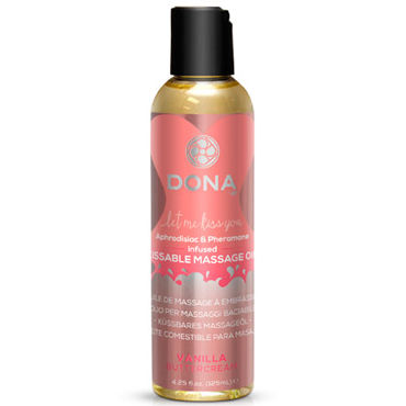 Dona Kissable Massage Oil Vanilla Buttercream, 125 мл Ароматическое массажное масло ваниль
