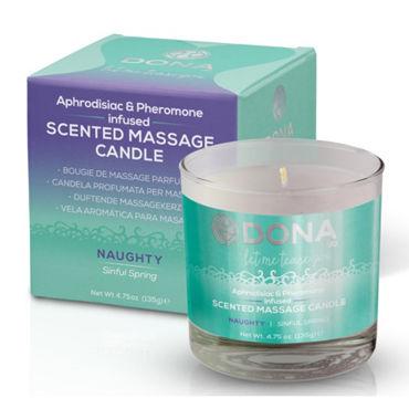 "Dona Scented Massage Candle Naughty Aroma Sinful Spring, 135 г Массажная свеча с ароматом ""Шалость"""