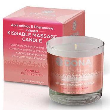 Dona Kissable Massage Candle Vanilla Buttercream, 135 г Массажная свеча с ароматом ванили