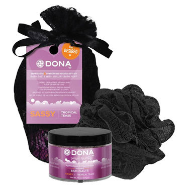 Dona Be Desired Gift Set - Sassy Соль для ванны и мочалка-розочка