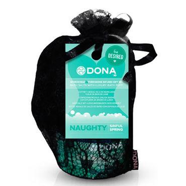 Dona Be Desired Gift Set - Naughty Соль для ванны и мочалка-розочка