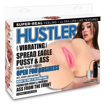 Hustler Sasha Grey Vibrating Pussy&Ass Маструбатор вагина и анус с вибрацией