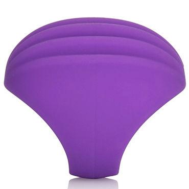 California Exotic Silhouette S2, фиолетовая Насадка на палец для стимуляции клитора, перезаряжаемая