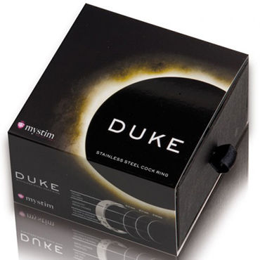 Mystim The Duke brushed, 55 мм Стальное эрекционное кольцо, матовое