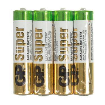 GP Super ААА Alkaline, 4 шт Элемент питания