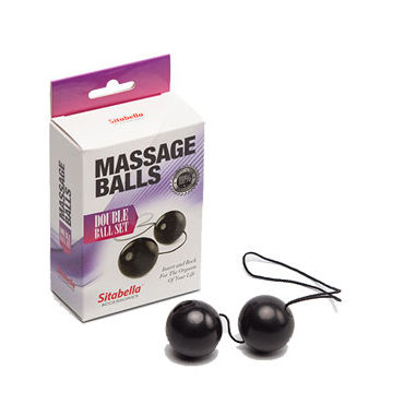 Sitabella Massage Balls Double Ball Set, черный Шарики массажные