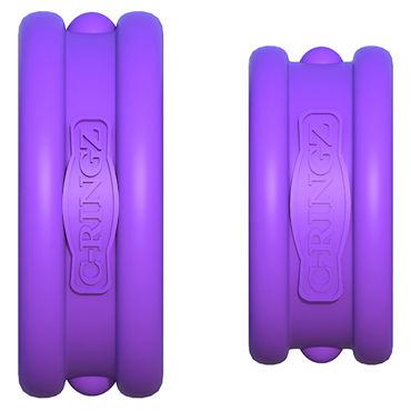Pipedream Max Width Silicone Rings, фиолетовый Набор эрекцонных колец