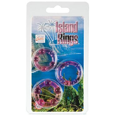 California Exotic Island Rings, розовый Комплект эрекционных колец