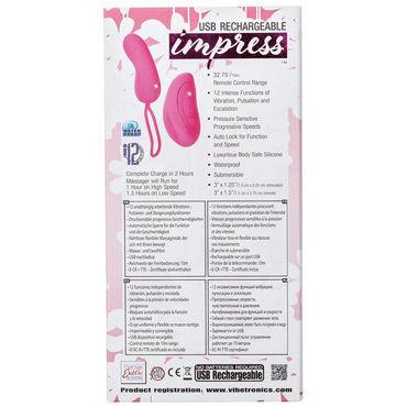 California Exotic Impress Remote Teaser, розовый Перезаряжаемое виброяйцо