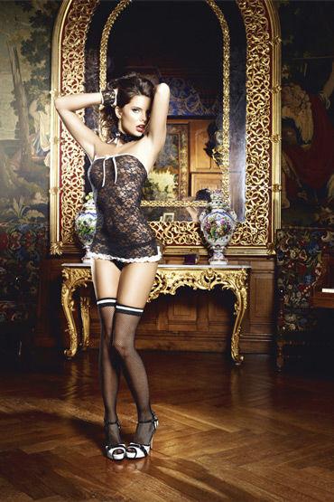 Baci сексуальная служанка Мини-платье, манжеты и воротничок