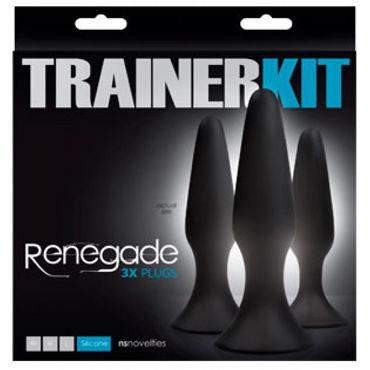 NS Novelties Renegade 3x Plugs Trainer Kit, черные Набор анальных пробок