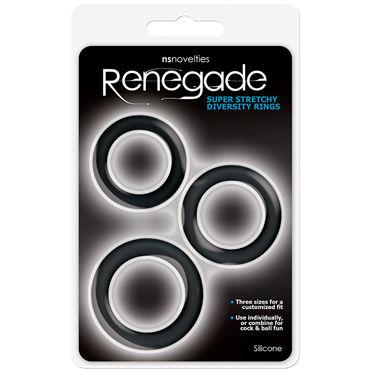 NS Novelties Renegade Diversity Rings, черные Набор эрекционных колец
