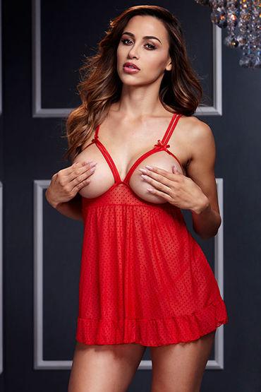 Baci Комплект эротического белья, красный Сорочка и трусики