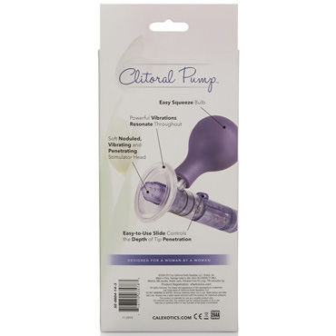 California Exotic Penetrating Mini Clit Pump, фиолетовая Мини-помпа клиторальная с вибрацией