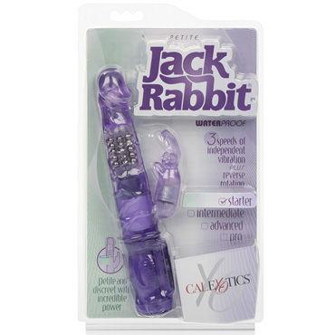 California Exotic Petiti Jack Rabbit, фиолетовый Вибромассажер с ротацией