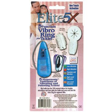California Exotic Elite 5X Vibro Ring Tickler, прозрачный Микровибратор с насадками